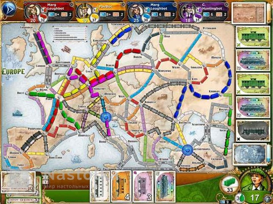 Билет на поезд: Европа / Ticket to Ride: Европа-4 от nastolka.com.ua